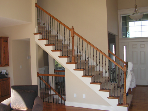 Iron Spindles Custom Curved Design Spindle Staircase