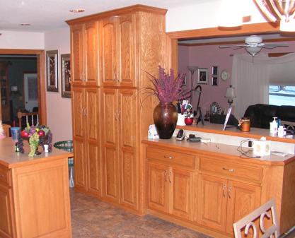custom kitchen - red oak - kc wood